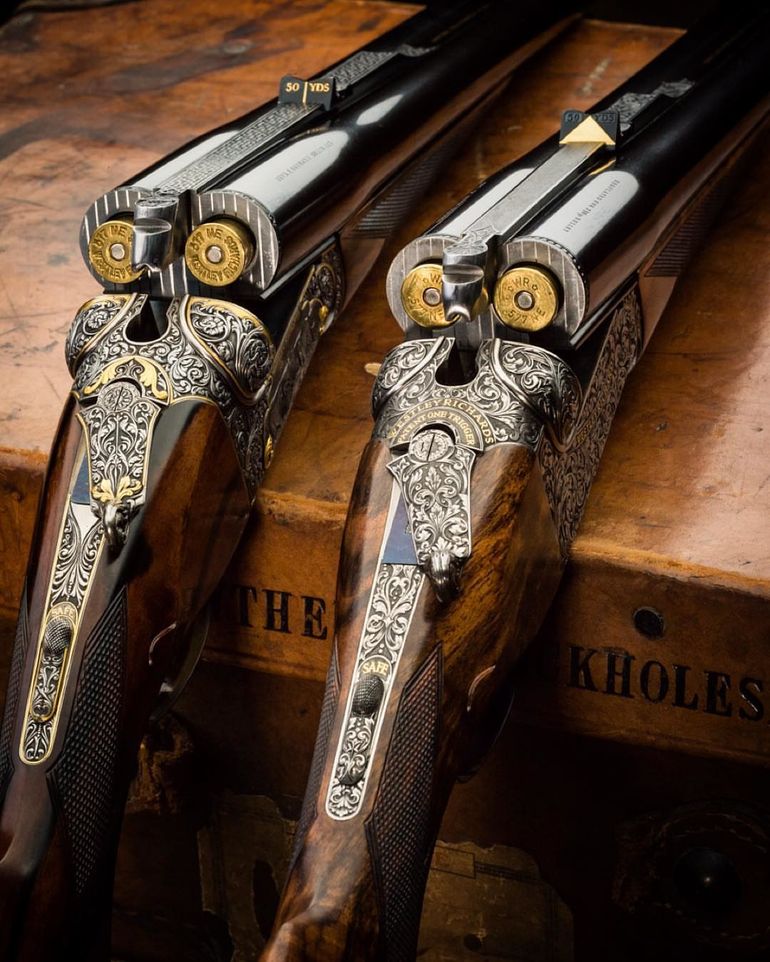 The Mammoth  577 Nitro Express Double Rifle by Westley Richards