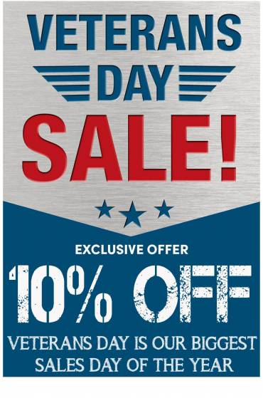 Veterans Day Sale 10% store-wide Promo Code: get10off