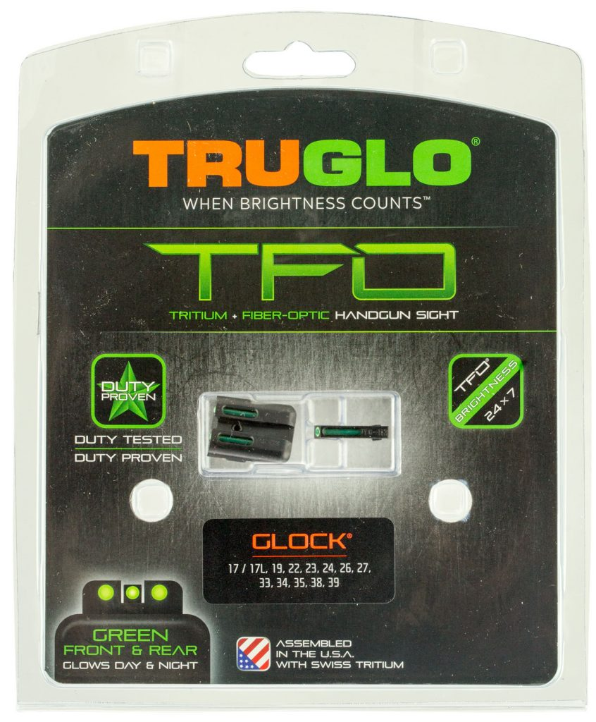 TRUGLO INC TRUGLO BRITE-SITE TFO GLOCK 20/21/29/30/31/32/37 TRITIUM/FIBER  OPTIC GREEN BLACK - 788130080771 16753 - Anthonys