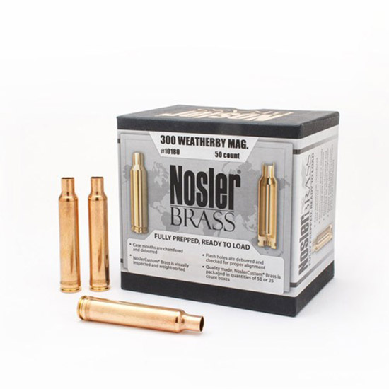 NOSLER BULLETS BRASS 300WBY 50/BOX - 054041101806 NOS 10180 - Anthonys